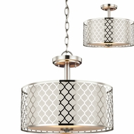 Seagull 7715502EN-962 Jourdanton Contemporary Brushed Nickel LED Pendant Light Fixture / Flush Mount Lighting