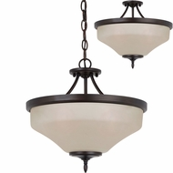 Seagull 77180EN-710 Montreal Burnt Sienna LED Pendant Lighting Fixture / Overhead Lighting
