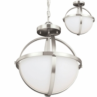 Seagull 7724602EN-962 Alturas Contemporary Brushed Nickel LED Drop Lighting / Home Ceiling Lighting