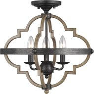 Seagull 7724903-846 Socorro Modern Stardust Flush Lighting
