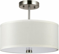 Seagull 77262-962 Dayna Shade Pendants Brushed Nickel Drum Hanging Light Fixture