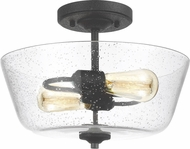 Seagull 7727802-839 Morill Modern Blacksmith Flush Mount Light Fixture