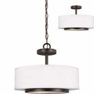 Seagull 7728002EN-782 Nance Modern Heirloom Bronze LED Drop Ceiling Lighting / Overhead Light Fixture