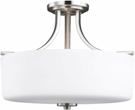 Seagull 7728803EN3-962 Canfield Contemporary Brushed Nickel LED Overhead Light Fixture