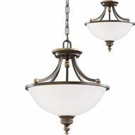 Seagull 77350EN-708 Laurel Leaf Estate Bronze LED Ceiling Pendant Light / Ceiling Lighting