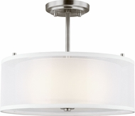 Seagull 7737302-962 Elmwood Park Modern Brushed Nickel Ceiling Light Fixture
