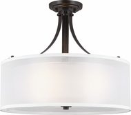 Seagull 7737303-782 Elmwood Park Contemporary Heirloom Bronze Flush Lighting
