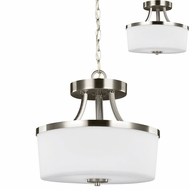 Seagull 7739102EN-962 Hettinger Contemporary Brushed Nickel LED Pendant Lighting / Ceiling Lighting Fixture