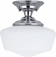 Seagull Academy Chrome Flush Ceiling Light Fixture