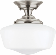 Seagull 77437EN-962 Academy Brushed Nickel LED Flush Mount Lighting
