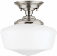 Seagull 77437EN3-962 Academy Contemporary Brushed Nickel LED 13 Flush Mount Light Fixture