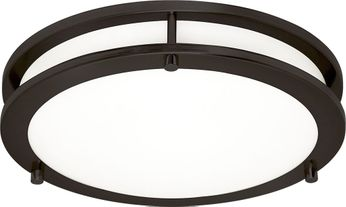 Seagull 7750893S-782 Mahone Contemporary Heirloom Bronze LED Flush Mount Lighting Fixture