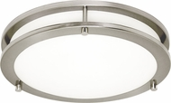 Seagull 7750893S-962 Mahone Modern Brushed Nickel LED Flush Ceiling Light Fixture