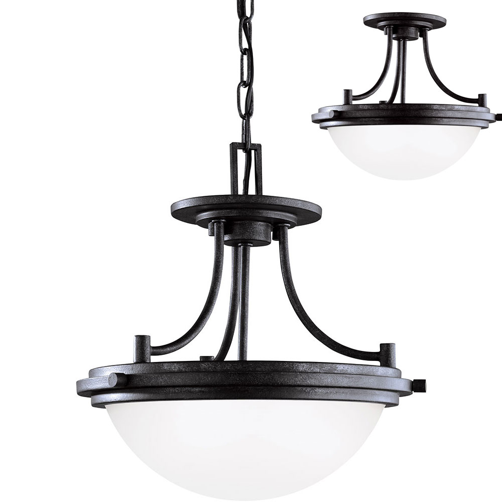 Seagull 77660en 839 Winnetka Blacksmith Led Lighting Pendant Flush