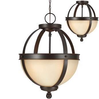 Seagull 7790402EN-715 Sfera Modern Autumn Bronze LED Hanging Light / Flush Mount Light Fixture