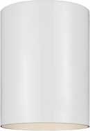 Seagull 7813897S-15 Outdoor Cylinders Contemporary White LED Exterior Overhead Light Fixture