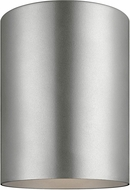 Seagull 7813897S-753 Outdoor Cylinders Contemporary Painted Brushed Nickel LED Outdoor Overhead Lighting Fixture