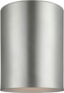 Seagull 7813991S-753 Outdoor Bullets Modern Painted Brushed Nickel LED Exterior Home Ceiling Lighting