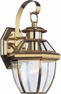 Seagull 8037-02 Lancaster Traditional Polished Brass Exterior Wall Sconce Lighting