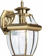 Seagull 8038-02 Lancaster Traditional Polished Brass Exterior Wall Light Sconce