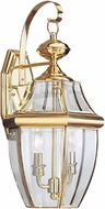 Seagull 8039-02 Lancaster Traditional Polished Brass Exterior Wall Lighting