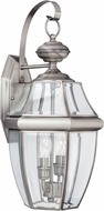 Seagull 8039-965 Lancaster Traditional Antique Brushed Nickel Outdoor Lighting Sconce