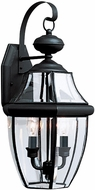 Seagull 8039EN-12 Lancaster Traditional Black LED Outdoor Wall Sconce Lighting