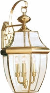 Seagull 8040-02 Lancaster Traditional Polished Brass Exterior Wall Lighting Sconce