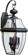 Seagull 8040-12 Lancaster Traditional Black Outdoor Wall Sconce Lighting