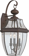 Seagull 8040-71 Lancaster Traditional Antique Bronze Exterior Wall Mounted Lamp