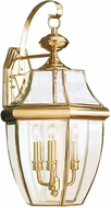Seagull 8040EN-02 Lancaster Traditional Polished Brass LED Exterior Wall Lighting Fixture