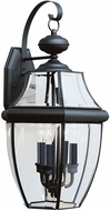 Seagull 8040EN-12 Lancaster Traditional Black LED Outdoor Wall Light Sconce