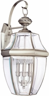 Seagull 8040EN-965 Lancaster Traditional Antique Brushed Nickel LED Outdoor Wall Sconce