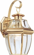 Seagull 8067-02 Lancaster Traditional Polished Brass Exterior Wall Lamp