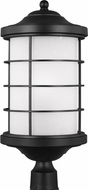Seagull 8224451EN-12 Sauganash Contemporary Black LED Outdoor Post Lamp