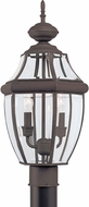 Seagull 8229-71 Lancaster Traditional Antique Bronze Exterior Post Lighting Fixture