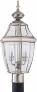 Seagull 8229-965 Lancaster Traditional Antique Brushed Nickel Outdoor Lamp Post Light Fixture