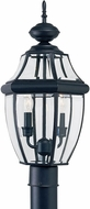 Seagull 8229EN-12 Lancaster Traditional Black LED Exterior Post Light Fixture