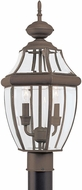 Seagull 8229EN-71 Lancaster Traditional Antique Bronze LED Outdoor Pole Lighting Fixture