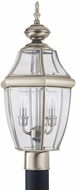 Seagull 8229EN-965 Lancaster Traditional Antique Brushed Nickel LED Exterior Post Lighting