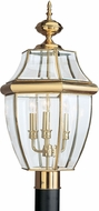 Seagull 8239-02 Lancaster Traditional Polished Brass Outdoor Post Lamp