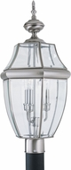 Seagull 8239-965 Lancaster Traditional Antique Brushed Nickel Exterior Lighting Post Light