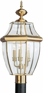 Seagull 8239EN-02 Lancaster Traditional Polished Brass LED Outdoor Post Light Fixture