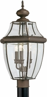 Seagull 8239EN-71 Lancaster Traditional Antique Bronze LED Outdoor Lamp Post Light Fixture