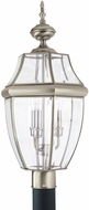 Seagull 8239EN-965 Lancaster Traditional Antique Brushed Nickel LED Exterior Post Light Fixture
