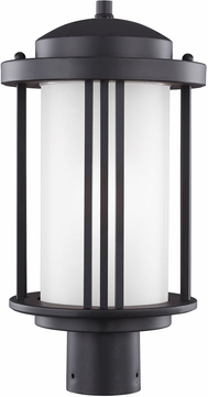 Seagull Crowell Black Exterior Post Lamp