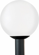 Seagull 8252-68 Outdoor Globe Modern White Plastic Outdoor Pole Lighting Fixture