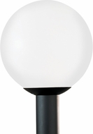 Seagull 8254-68 Outdoor Globe Contemporary White Plastic Outdoor Post Lamp