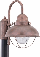 Seagull 8269-44 Sebring Retro Weathered Copper Outdoor Pole Lighting Fixture