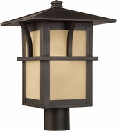 Seagull 82880-51 Medford Lakes Craftsman Statuary Bronze Outdoor Post Lamp